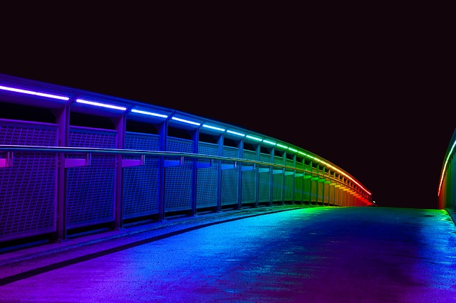 LED Lights on Bridge